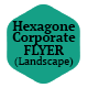 Hexagon Business Flyer (Landscape)