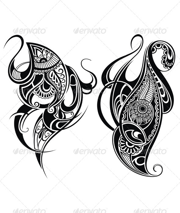 GraphicRiver Tattoo Design Elements 8104605