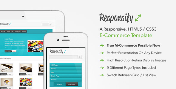 Responsify - A Responsive E-Commerce Template - Shopping Retail