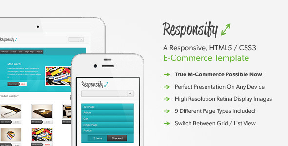 Responsify - A Responsive E-Commerce Template - Preview