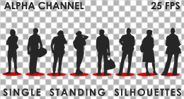 Standing People - Single Silhouette