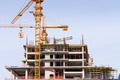 Construction site with cranes and building - PhotoDune Item for Sale