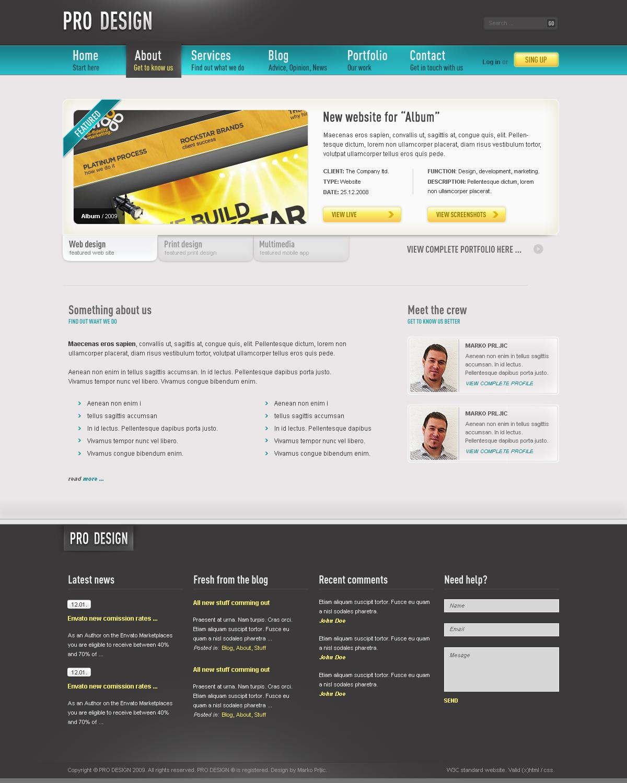Pro Design - Business Portfolio Blog Template