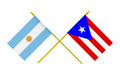 Flags of Argentina and Puerto Rico, 3d Render, Isolated - PhotoDune Item for Sale