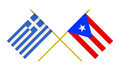 Flags of Greece and Puerto Rico, 3d Render, Isolated - PhotoDune Item for Sale