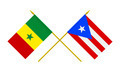 Flags of Puerto Rico and Senegal, 3d Render, Isolated - PhotoDune Item for Sale