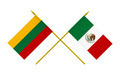 Flags of Lithuania and Mexico, 3d Render, Isolated - PhotoDune Item for Sale