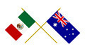 Flags of Mexico and Australia, 3d Render, Isolated - PhotoDune Item for Sale