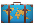 Classic vintage luggage suitcase for travel with map - PhotoDune Item for Sale