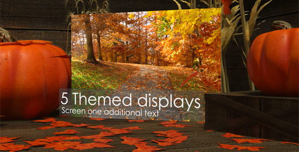 Autumn Themed Video Displays