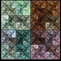 Abstract colorful square fractal  mosaic style background - PhotoDune Item for Sale
