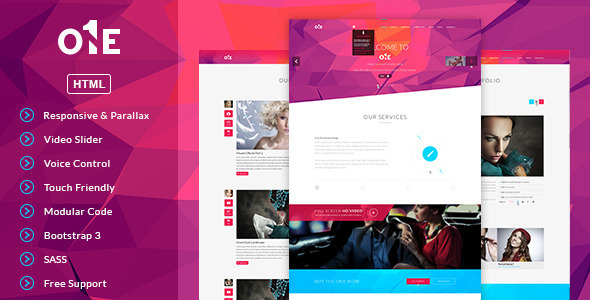 ThemeForest ONE- HTML Template 7974440