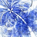 Colorful fractal flower pattern, blue digital artwork - PhotoDune Item for Sale