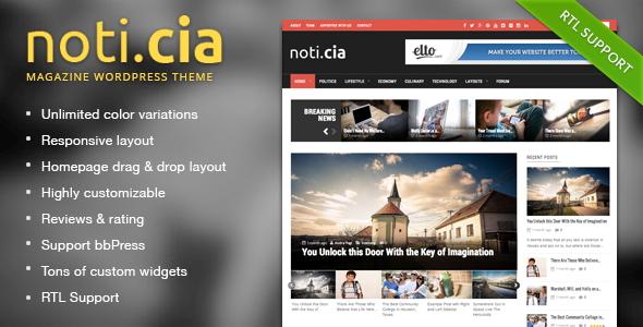 ThemeForest Noticia Responsive WordPress Magazine Theme 7806210