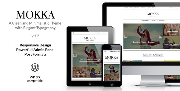 Mokka - Minimal & Elegant WordPress Blog - Blog / Magazine WordPress