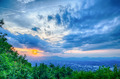 Roanoke City as seen from Mill Mountain Star at dusk in Virginia - PhotoDune Item for Sale