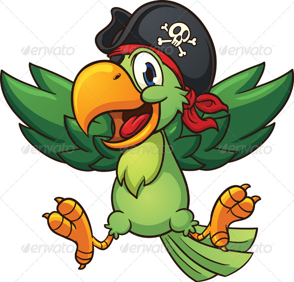 GraphicRiver Happy Pirate Parrot 8105333