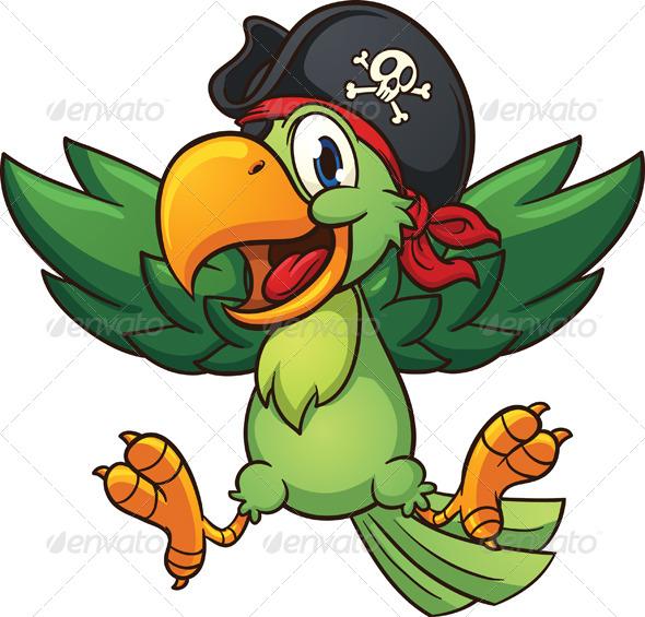 GraphicRiver Happy Pirate Parrot 8105333