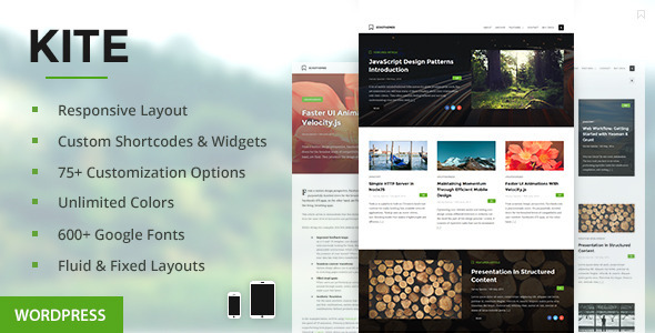 ThemeForest Kite Responsive WordPress Theme 8105345