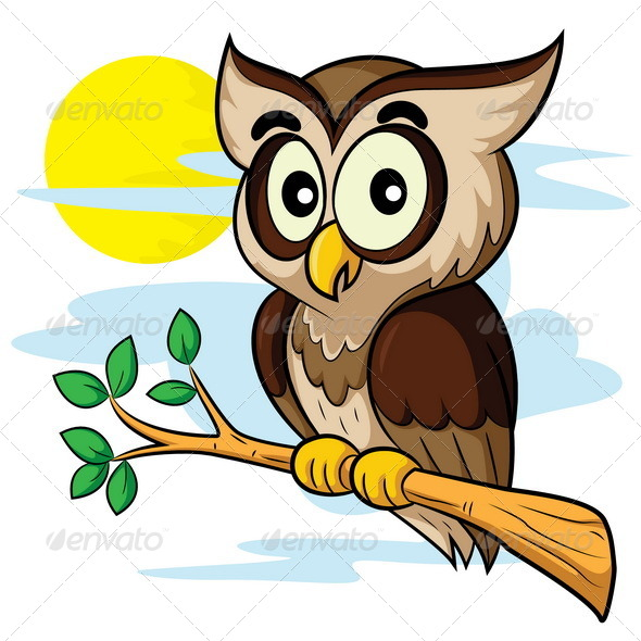 GraphicRiver Owl Cartoon 8105395