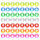 Glass Icons with Symbols Arrows - GraphicRiver Item for Sale