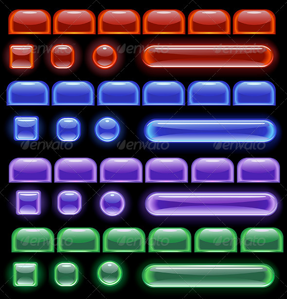 GraphicRiver Glowing Computer Buttons 8105707