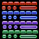 Glowing Computer Buttons - GraphicRiver Item for Sale