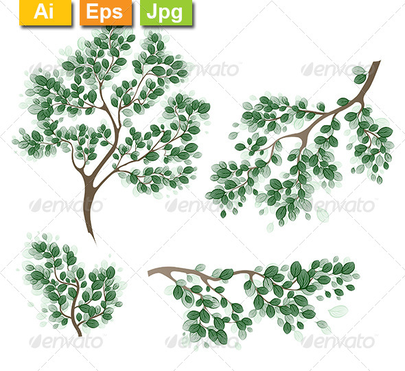 GraphicRiver Green Branches 8106217