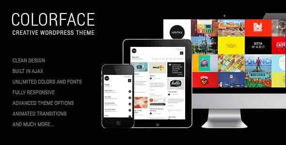 ThemeForest Colorface Creative Wordpress Theme 8062560