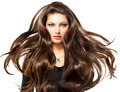 Fashion Model Girl Portrait with Long Blowing Hair - PhotoDune Item for Sale