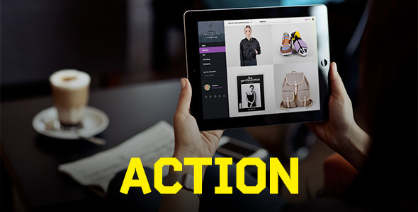 Action | PSD Template - Retail PSD Templates