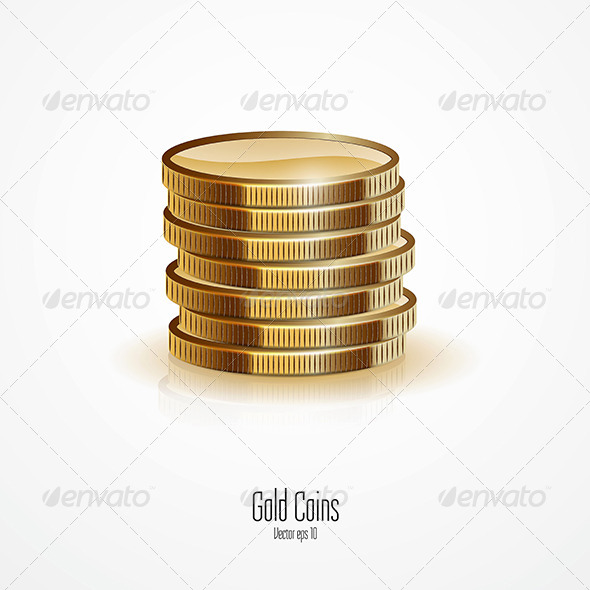 Gold Stacks of Coins