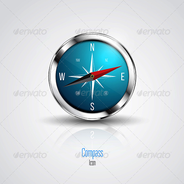 GraphicRiver Blue Compass 8106842