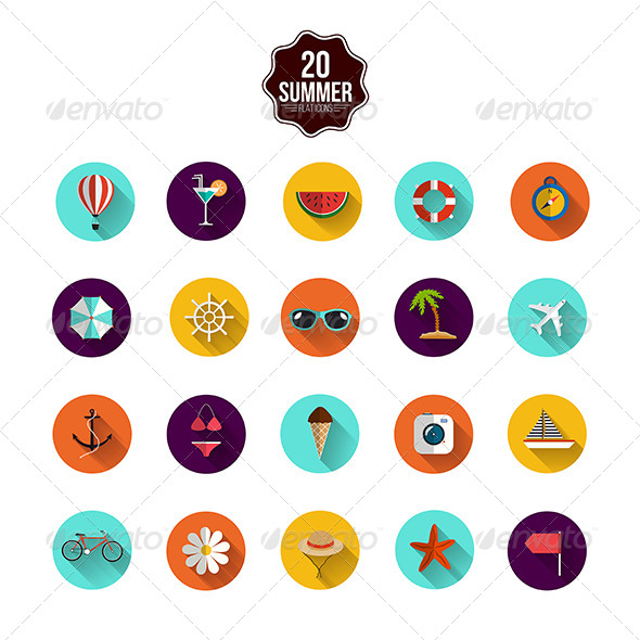 GraphicRiver This is the Summer Icons 8106880