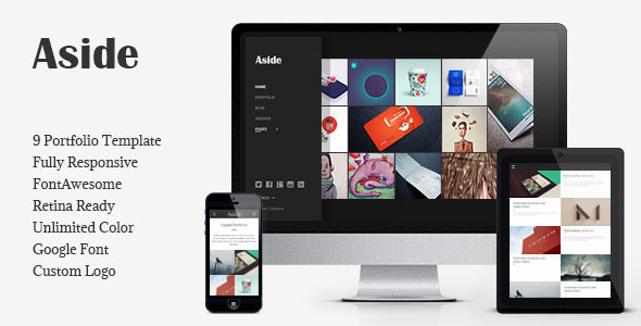 ThemeForest Aside Photo Portfolio Sidebar HTML Theme 8106964