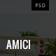 Amici - Minimal Restaurant & Cafe PSD Template - Restaurants & Cafes Entertainment