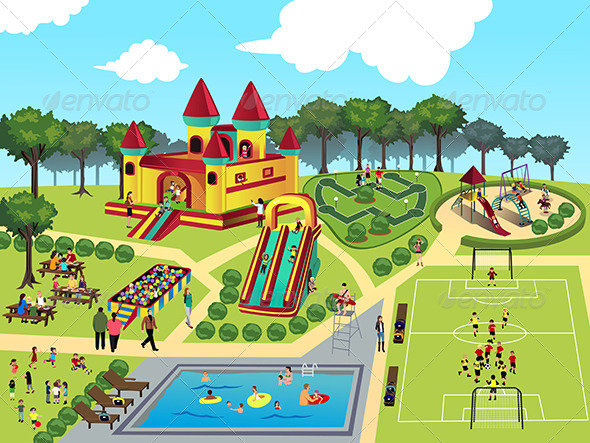 GraphicRiver Playground Map 8107092