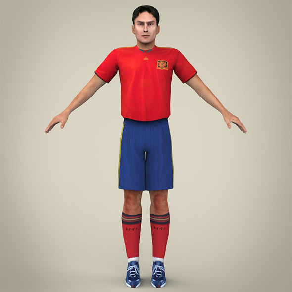 3DOcean Red Uniformed Football Player 8107493