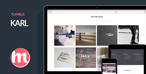 ThemeForest Karl Minimal Portfolio Theme for Tumblr 6643764
