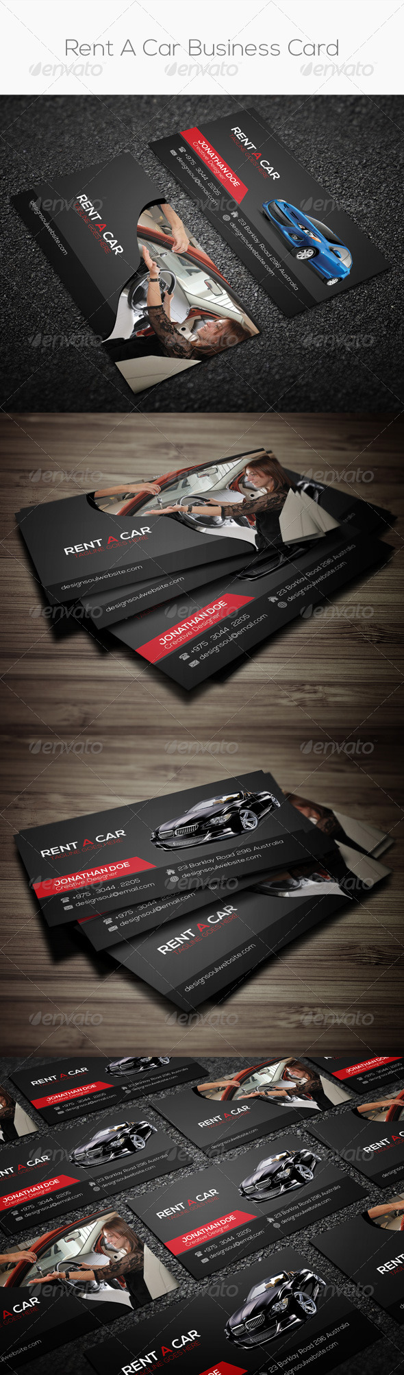 GraphicRiver Rent A Car Business Card 8107759