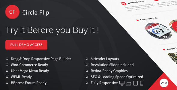 ThemeForest Circle Flip Responsive Multipurpose Theme 8107961