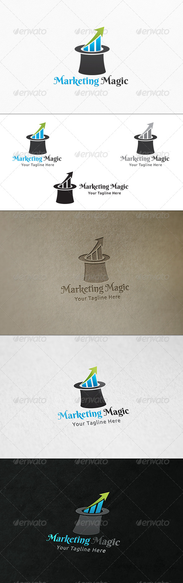 GraphicRiver Marketing Tricks Logo Template 8108167