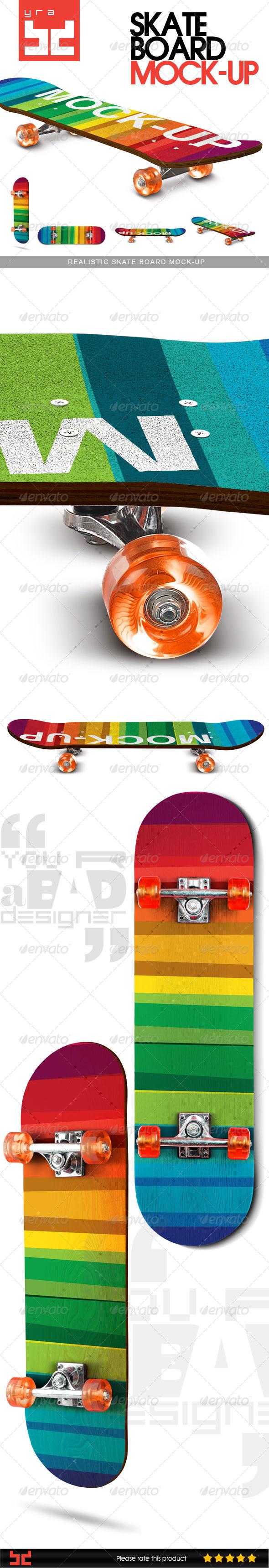 GraphicRiver Realistic Skate Board Mock-up 8088370