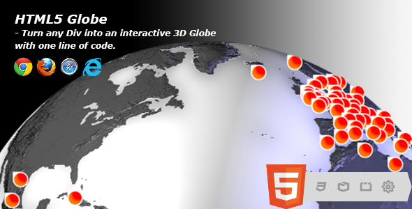CodeCanyon HTML5 Globe 8108270
