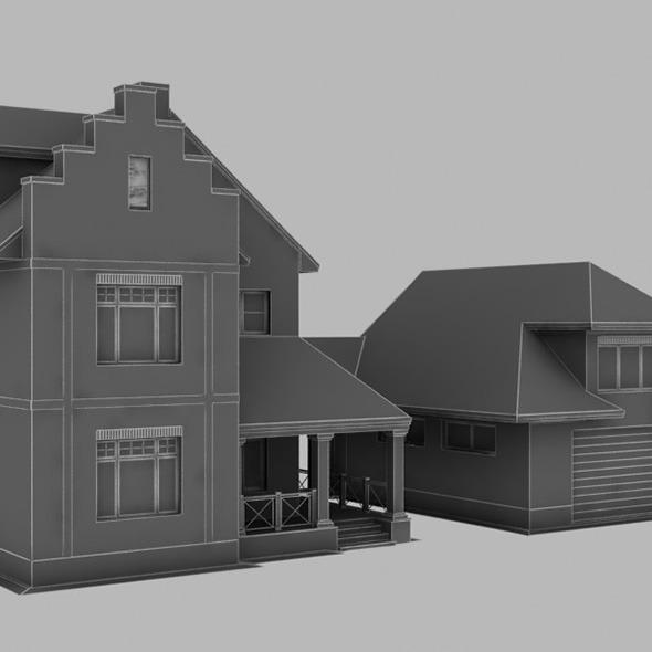 3DOcean 2 storey house 393 8045879