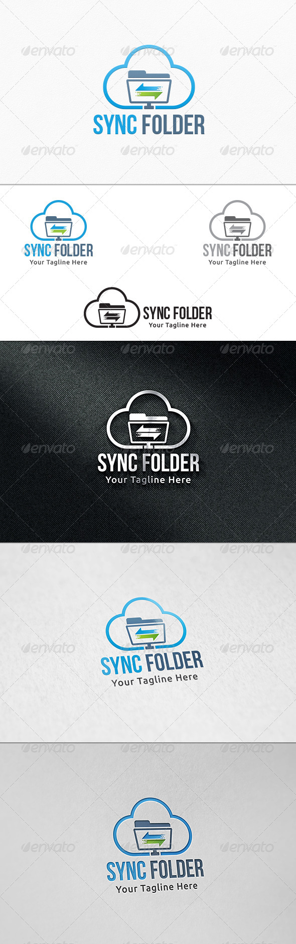 GraphicRiver Sync Folder Logo Template 8108441