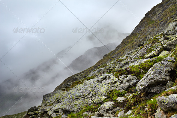 Misty mountains - Stock Photo - Images