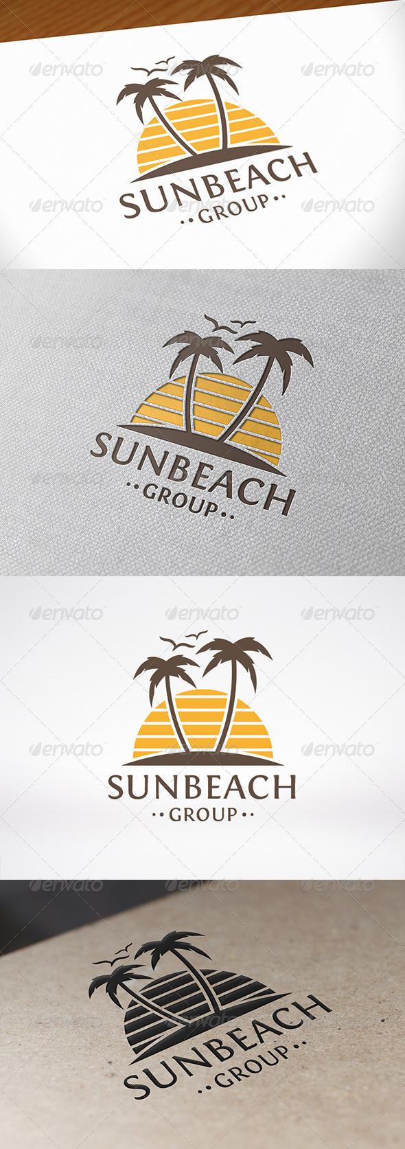 GraphicRiver Sun Beach Logo Template 8108793
