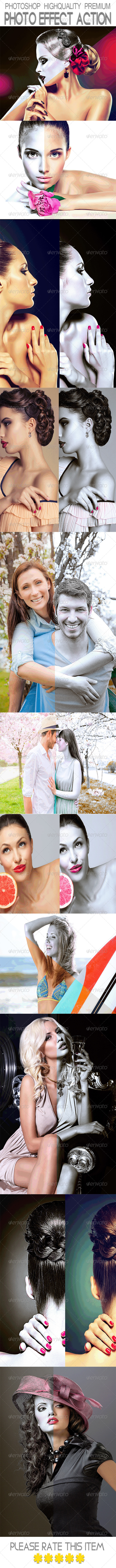 GraphicRiver Photoshop Highquality Premium Photo Effect Action 8108866
