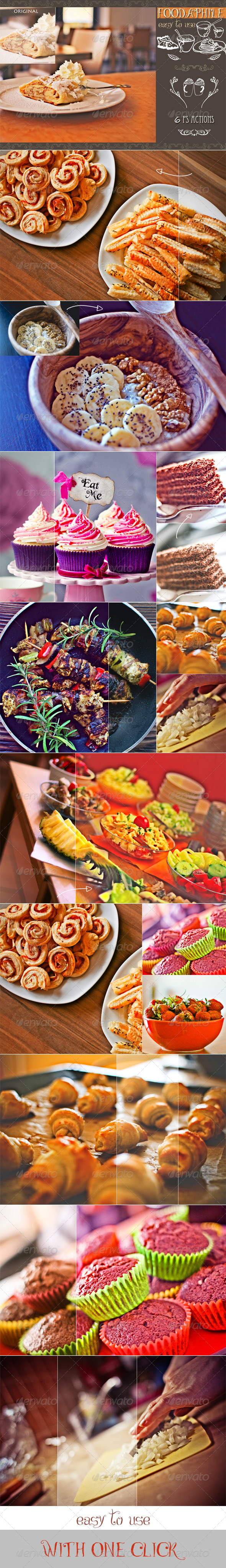 GraphicRiver Foodaphile 6 PS Actions 8108880